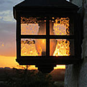 Lantern In The Sunset Poster