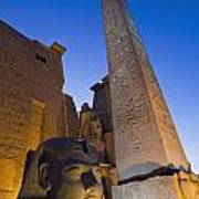Large Pharaohs Head Statue And Obelisk Poster
