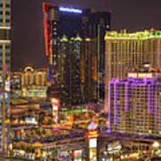 Las Vegas Nevada Poster by Nicholas  Grunas