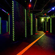 Laser Game Area With Obstacles Poster