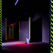 Laser Game Playing Space With Narrow Poster
