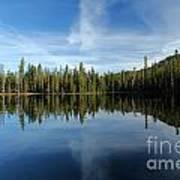 Lassen Summit Lake Reflections Poster