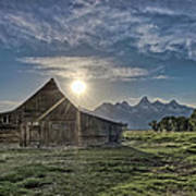 Late Evening At Moulton Barn Poster