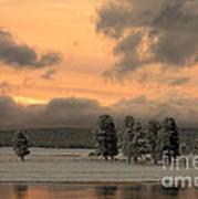 Late Spring Storm In Yellowstone Poster