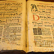 Latin Hymnal 1700 Ad Poster