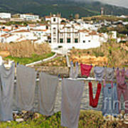 Laundry Day In Azores Poster