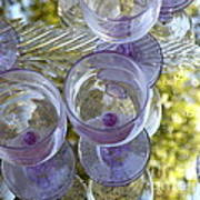 Lavender Wine Glasses Poster