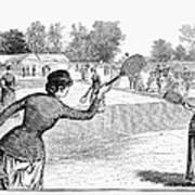 Lawn Tennis, 1883 Poster