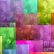 Layered Tiles Abstract Poster