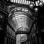 Leadenhall Market Black And White Poster