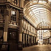Leadenhall Market London Sepia Toned Image Poster