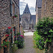 Leading To The Church Provence France Poster