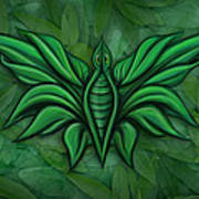 Leafy Bug Poster by David Kyte