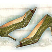 Leapin Green Lizards Pumps Poster