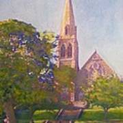 Leckie Memorial  Church  Peebles Scotland Poster