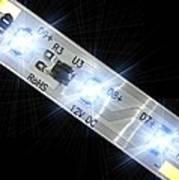 Led Light Strip, Macrophotograph Poster