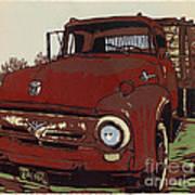 Leeser's Truck - Linocut Print Poster