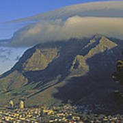 Lenticular Cloud Over Table Mountain Poster