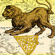 Leo, The Hevelius Firmamentum, 1690 Poster by Science Source