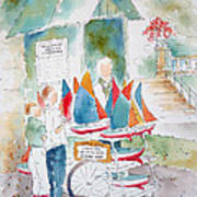 Les Voiliers Jardin Du Luxembourg Poster