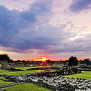 Lesnes Abbey Ruins Sunset Poster
