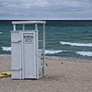 Lifeguard Station At The Beach Poster
