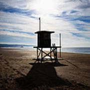 Lifeguard Tower Newport Beach California Poster by Paul Velgos