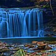 Light Blue Falls Poster