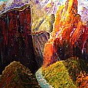 Light Through The Canyon Poster