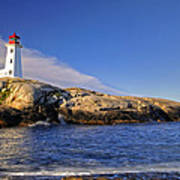 Lighthouse At Peggy's Cove Poster