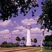 Lighthouse In Biloxi Mississippi Poster