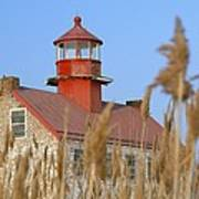 Lighthouse In Wheat Field Poster