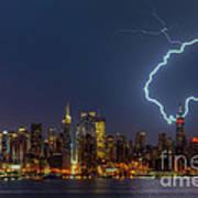 Lightning Over New York City Vii Poster