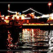 Lights Of Harbor Poster