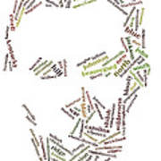 Lincoln As Word Cloud Poster