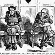 Lincoln Cartoon, 1864 Poster