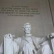 Lincoln Memorial - Enshrined Forever Poster