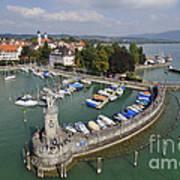 Lindau Harbor Lake Constance Bavaria Germany Poster by Matthias Hauser