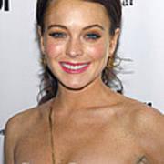 Lindsay Lohan Wearing Chanel Earrings Poster