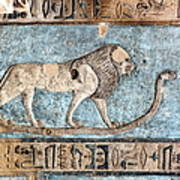 Lion At Dendera, Egypt Poster