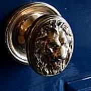 Lion Head Door Knob Poster