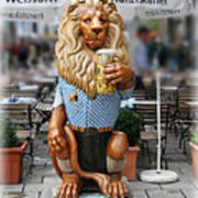 Lion Of Beer Poster