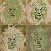 Lion X 4 One Poster