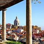 Lisbon View Poster by Carlos Caetano