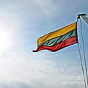 Lithuanian Tricolor Poster