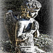 Little Angel Statue Poster
