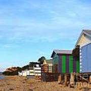 Little Boatsheds In A Row Poster