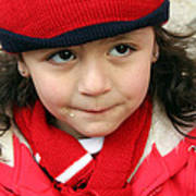 Little Girl In Red Poster