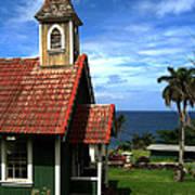 Little Green Church In Hawaii Poster