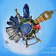 Little Planet - London Poster